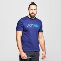 Mountain Equipment Men's Geo Peak T-Shirt, Blue