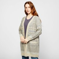 Weird Fish Womens Lipa Cardigan, GREY/GREY
