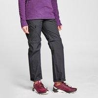 FREEDOMTRAIL Womens Nebraska Zip-Off Walking Trousers, Black/Dark Grey