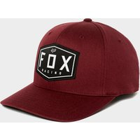 Fox Crest Flexfit Hat, RED/RED