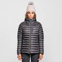 Rab Womens Microlight Alpine Down Long Jacket, Black