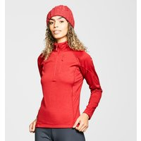 Rab Women's Nucleus Pull-On Fleece, Red/Red