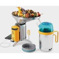 BioLite BioLite Campstove 2+ Complete Cook Kit, Silver/Silver