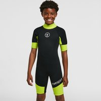 Freespirit Kids' Short Wetsuit, Black/Green