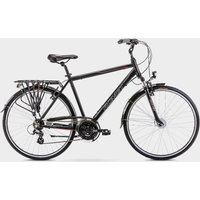 Romet Men's Track 1 Hybrid Bike, Black/Black