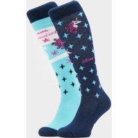 COMODO Kids Novelty Blue Unicorn Socks, Blue