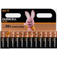 Duracell AA Plus Batteries (12 pack), Black/Orange