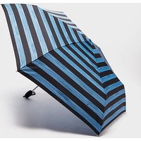 Fulton Superslim 2 Striped Umbrella, Blue/Black