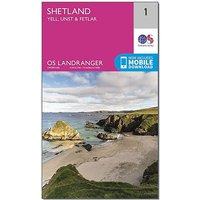 Ordnance Survey Landranger 1 Shetland Yell, Unst and Fetlar Map With Digital Version