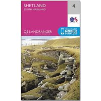 Ordnance Survey Landranger 4 Shetland South Mainland Map With Digital Version, D/D