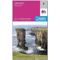 Ordnance Survey Landranger 6 Orkney Mainland Map With Digital Version, D/D