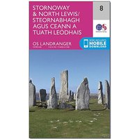 Ordnance Survey Landranger 8 Stornaway & North Lewis Map With Digital Version, D/D