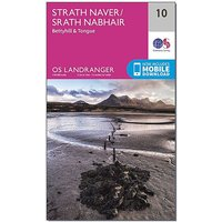 Ordnance Survey Landranger 10 Strathnaver, Bettyhill & Tongue Map With Digital Version, D/D