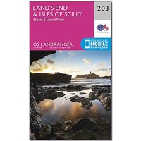 Ordnance Survey Landranger 203 Land's End & Isles of Scilly, St Ives & Lizard Point Map With Digital Version, D/D