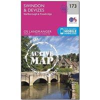 Ordnance Survey Landranger Active 173 Swindon, Devizes, Marlborough & Trowbridge Map With Digital Version, D/D