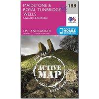 Ordnance Survey Landranger Active 188 Maidstone & Royal Tunbridge Wells Map With Digital Version, D/D