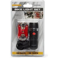 UNICOM Bike Light Set, BLK/BLK