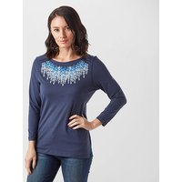 Craghoppers Women's Westport 3/4 Length Sleeve T-Shirt, NVY$/NVY$