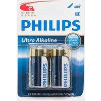 Phillips Ultra Alkaline C LR14 1.5V Batteries 2 Pack, Blue