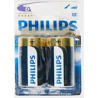 Phillips Ultra Alkaline D LR20 Batteries 2 Pack, Blue