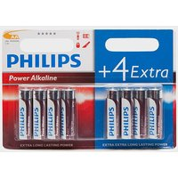 Phillips PowerLife AA LR6 B4+4 Alkaline Batteries, Blue