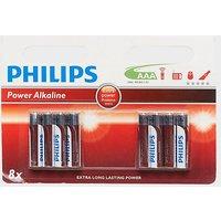 Phillips PowerLife AAA LR03 B4+4 Alkaline Batteries, N/A