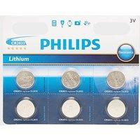 Phillips Phillips Lithium Coin Watch Batteries CR2032 6 Pack