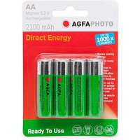 AGFA Rechargeable AA 1.2V Batteries 4 Pack, N/A
