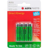 AGFA Rechargeable AAA 1.2V Batteries 4 Pack, Green