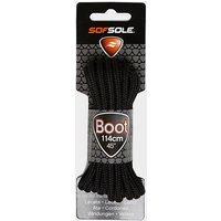 Sof Sole Wax Boot Laces - 114cm, BLK/BLK