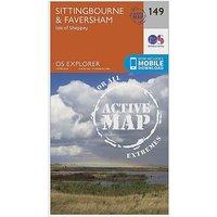 Ordnance Survey Explorer Active 149 Sittingbourne and Faversham Map With Digital Version - D/D, D/D