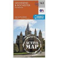 Ordnance Survey Explorer Active 163 Gravesend and Rochester Map With Digital Version - D/D, D/D
