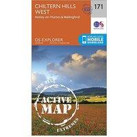 Ordnance Survey Explorer Active 171 Chiltern Hills West, Henley-On-Thames and Wallingford Map With Digital Version - D/D, D/D