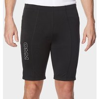 OMM Men's Flash 0.5 Short Cut Running Leggings, BLK/BLK