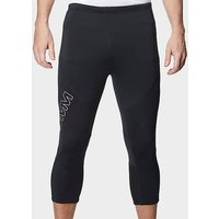 OMM Men's Flash 0.75 Knee Length Running Leggings, BK/BK