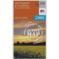 Ordnance Survey Explorer Active 210 Newmarket and Havehill Map With Digital Version - D/D, D/D