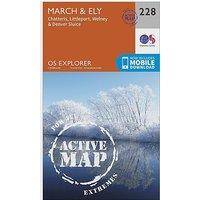 Ordnance Survey Explorer Active 228 March and Ely Map With Digital Version - D/D, D/D