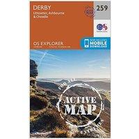 Ordnance Survey Explorer Active 259 Derby, Uttoxeter, Ashbourne and Cheadle Map With Digital Version - D/D, D/D