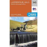 Ordnance Survey Explorer 345 Lammermuir Hills Map With Digital Version, D/D