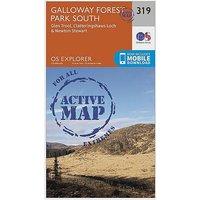 Ordnance Survey Explorer Active 319 Galloway Forest Park South Map With Digital Version - D/D, D/D