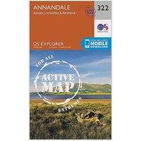 Ordnance Survey Explorer Active 322 Annandale Map With Digital Version - D/D, D/D