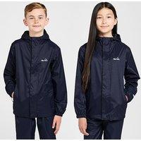 Peter Storm Kids' Unisex Packable Waterproof Jacket, Blue/Blue