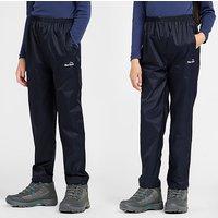 Peter Storm Kids' Unisex Packable Pants, NAVY/NAVY