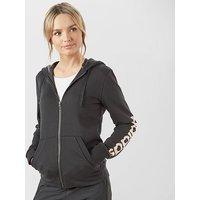 adidas Women's Essentials Linear Full-Zip Hoodie, BLK/BLK