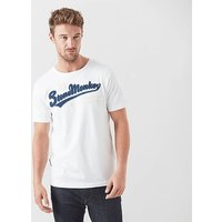 STONE MONKEY Men's '94' Tee, WHITE/BLUE