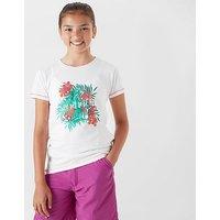 Regatta Girl's Bosley CoolWeave T-Shirt, WHT/WHT