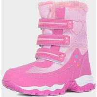 Alpine Girls' Fur Snow Boots, PINK/PINK