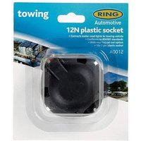 RING 12N 7 Pin Plastic Socket with Fog Cut Out (A0012), MULTI/MULTI