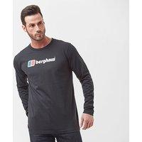 Berghaus Men's Big Logo Long Sleeve T-Shirt, Black