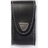 VICTORINOX Pocket Knife Leather Belt Pouch 5-8 Layers, BLK/BLK